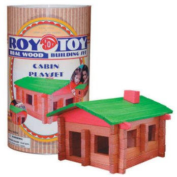 Roy Toy Manufacturing Log Camp Canister