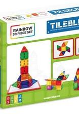Magformers Tileblox Rainbow 30pc w/Magnetic Board