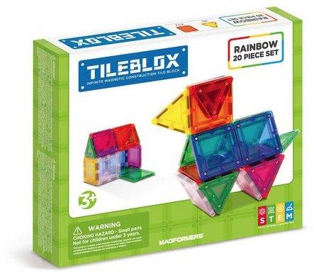 Magformers Tileblox Rainbow 20pc
