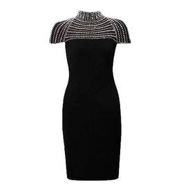 Ladies' Dress, Black/Silver Beading 183422