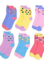 LA Showroom Girls Flower Pattern Socks