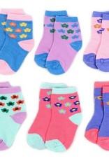 LA Showroom Infant Girls Flower Pattern Socks