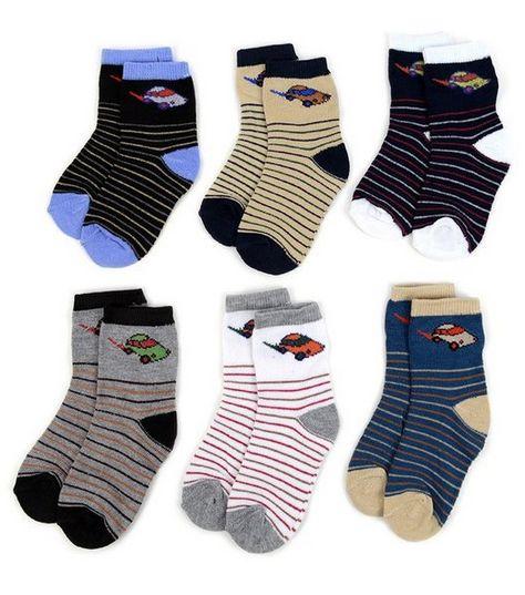 LA Showroom Boys Striped Pattern Socks