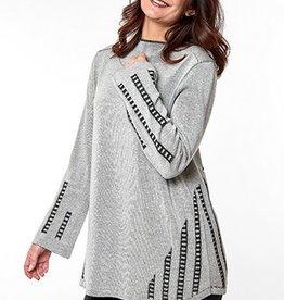 G9C Fashion Corporation A-Line High Neck Top W/ Plaiting
