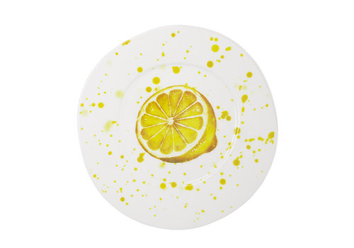 Vietri Vietri Melamine Fruit Lemon Dinner Plate
