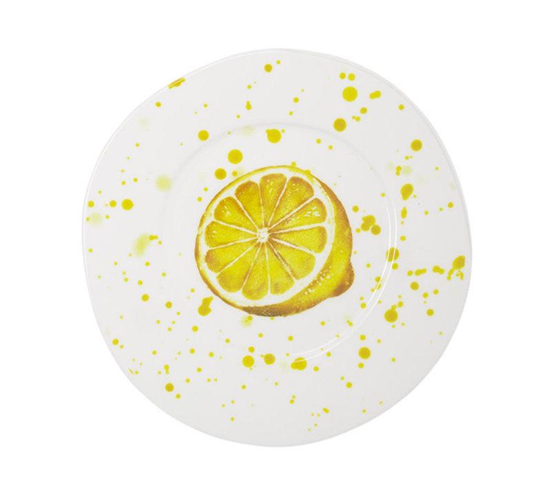 Vietri Melamine Fruit Lemon Dinner Plate