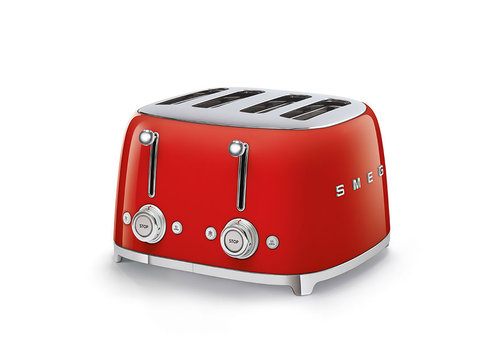 SMEG SMEG 4x4 Slot Toaster - Red