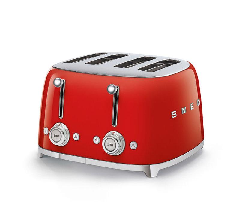 SMEG 4x4 Slot Toaster - Red