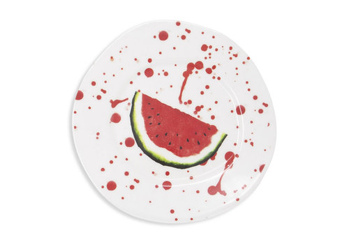 Vietri Vietri Melamine Fruit Watermelon Dinner Plate