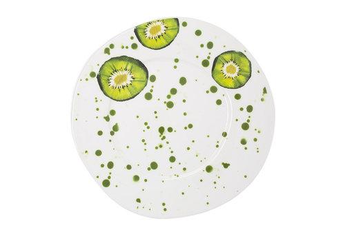 Vietri Vietri Melamine Fruit Kiwi Dinner Plate