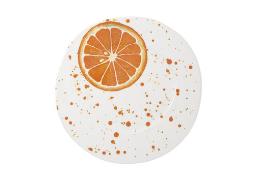 Vietri Vietri Melamine Fruit Orange Dinner Plate