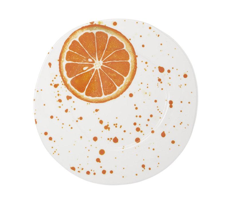Vietri Melamine Fruit Orange Dinner Plate