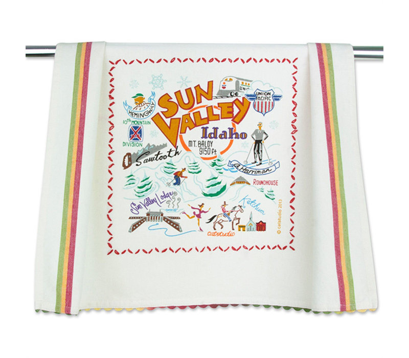 Catstudio Ski Sun Valley Dish Towel
