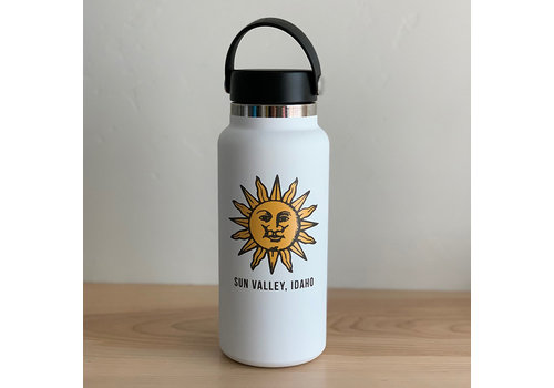 HydroFlask Sun Valley Sun 32oz Wide Mouth - White
