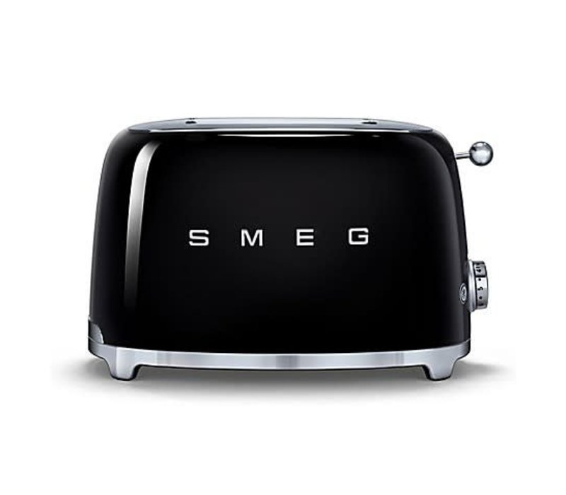 SMEG 2-Slice Toaster - BLACK - TSF01BLUS