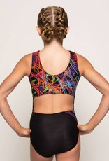 MotionWear 1323-812-Scribble Rainbow Open Back Leo