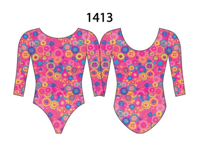 MotionWear 1413-208-3/4 Sleeve Gym leotard