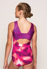 MotionWear 1654-253-Gym Front Eclipse Open Back Leo-COSMIC CORAL-SC