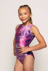MotionWear 1410-264-Gym Tank Leotard-PURPLE FOG