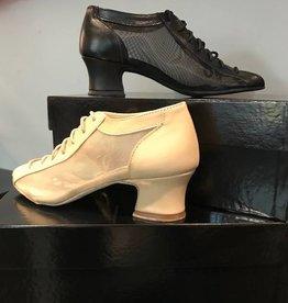"Anatomica 900-BARBARA-Ballroom Shoes Leather/Mesh cuban heel 1.5"" Suede Sole"