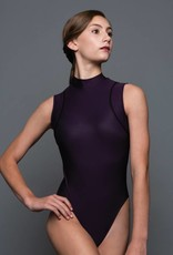MotionWear 2956-Mock Neck Mesh T-Back Leotard