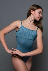 MotionWear 4155-Tow Tone U-Back Cami Leotard