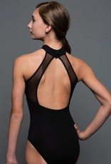 MotionWear 2508-Mock Neck Front Overlay Leotard