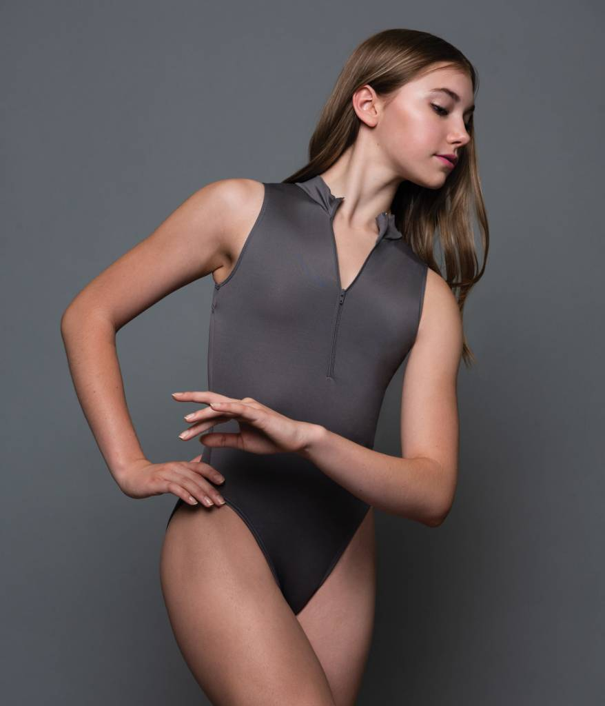 MotionWear 2962-Zip Front Mock Neck Leotard