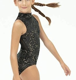 Capezio 11463W-Damask High Neck Leotard Mesh detailing
