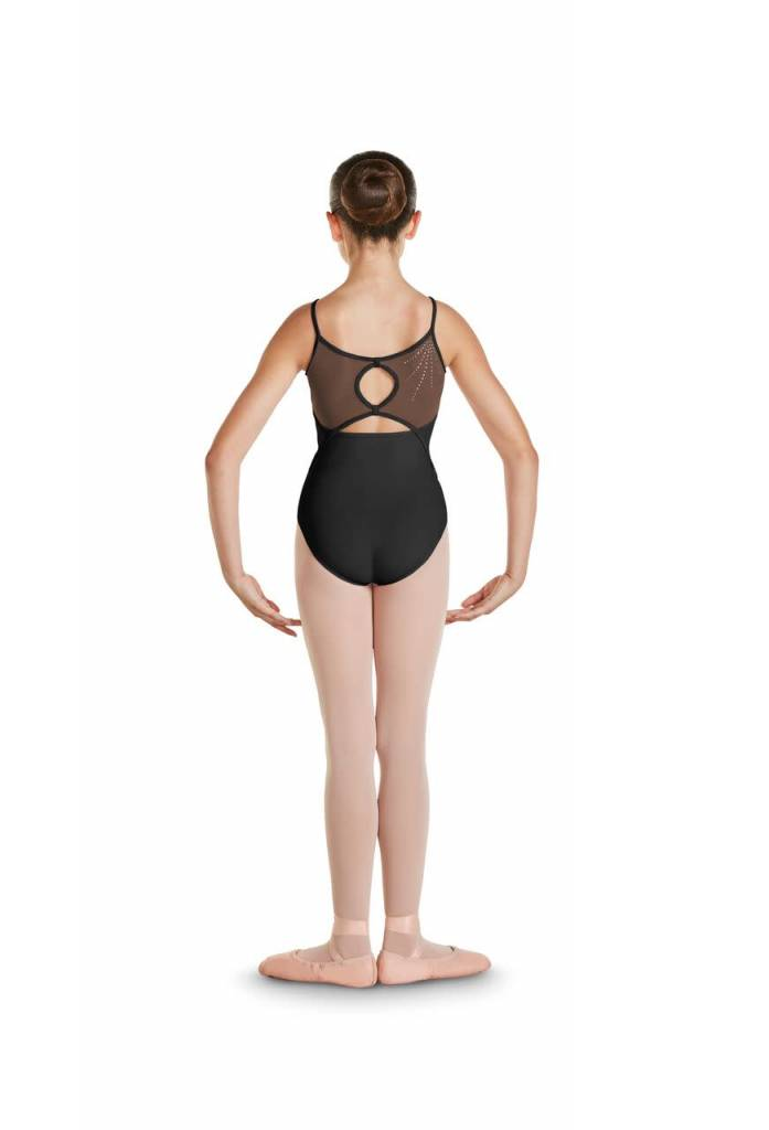 Bloch CL4837-Brea Keyhole Diamante Deco Back Cami Leotard-BLACK