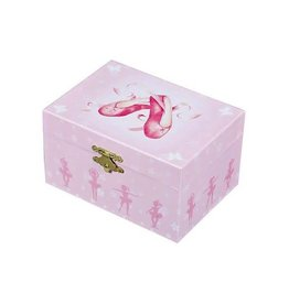 Trousselier S50975-Music Box Ballerina Slippers - PINK