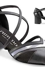 "Rummos DORIS-023-50BL-Ballroom Shoes cuban heel 2"" Suede Sole-TAUPE NUBUCK"
