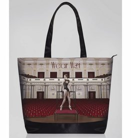 Wear Moi DIV102-Printed tote bag with a full zipper