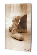 """DanzArte NO-A4-M07-""""Pointe Shoes Sepia"""" A4 laminated notebook (8.5""""X11"""")"""