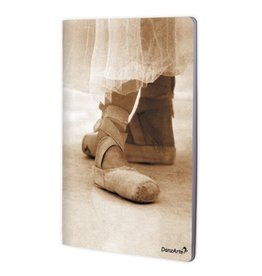 "DanzArte NO-A4-M07-""Pointe Shoes Sepia"" A4 laminated notebook (8.5""X11"")"
