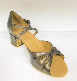 "Rummos LOLA-148-BL40-Ballroom Shoes cuban heel 1.5"" Suede Sole-BRONZE LEATHER"