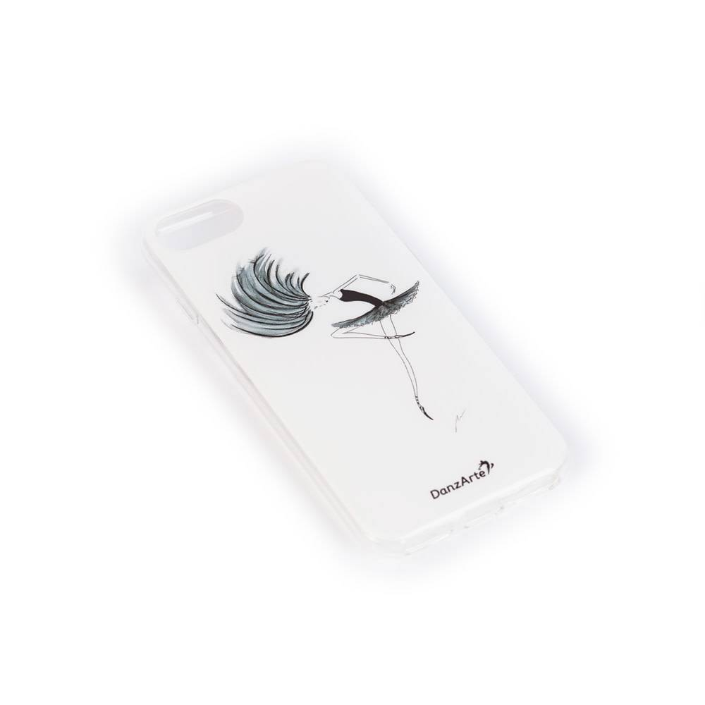 "DanzArte ""CA-IPH7RTNB04-Passé In Black"" Soft Rubber Case for iPhone 6/6S/7/8"