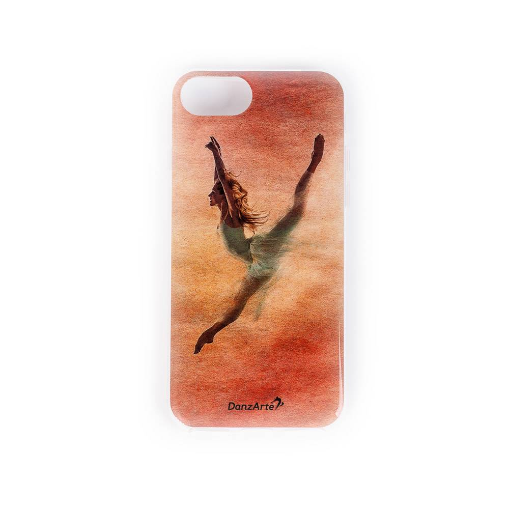 "DanzArte CA-IPH7R-G04-""Jeté In Red"" Soft Rubber Case for iPhone 6/6S/7/8"