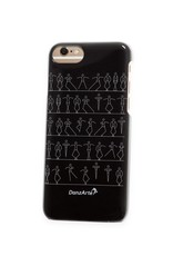 "DanzArte CA-IPH7B-GSF03-""Stick Figures"" iPhone 6/6S/7/8 Black Case"
