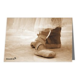 "DanzArte GR-B6-M07-""Pointe Shoes Sepia"" Greeting card"
