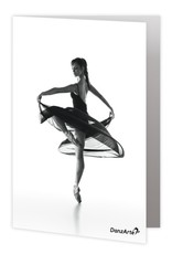 "DanzArte GR-B6-M01-""Turning Pointe"" Greeting card"
