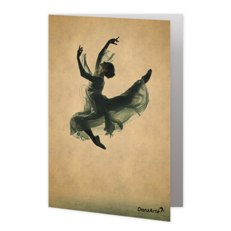 "DanzArte GR-B6-M02-""Suspended"" Greeting card"
