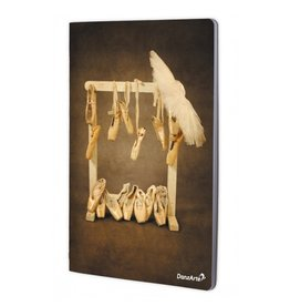 "DanzArte NO-A4-M12-""Hanging Pointe Shoes"" A4 Laminated Notebook (8.5''x11'')"