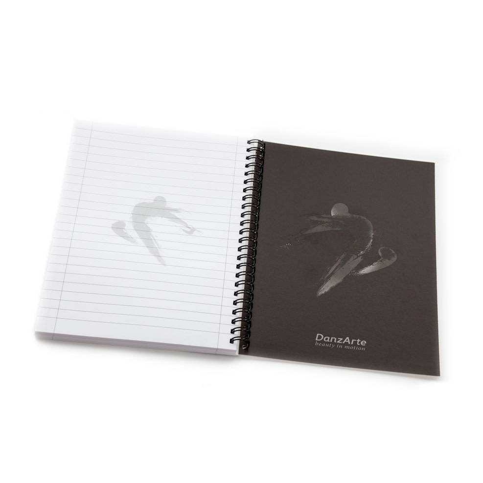 "DanzArte NO-SA5-M20-""Pointed"" A5 Laminated Spiral Notebook (6""x8"")"