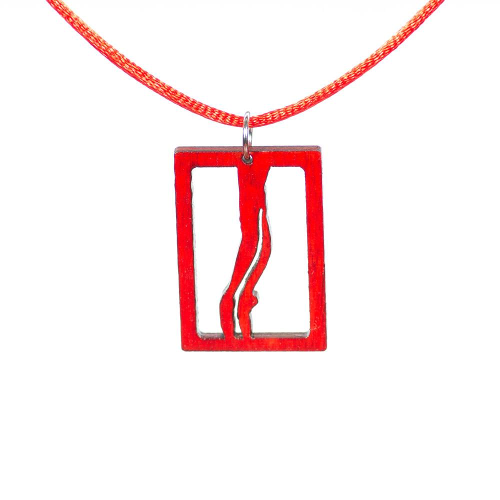 "DanzArte H04-RD-""Pointe"" Necklace"