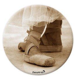 "d514a385d8e6 DanzArte PM-G07-""Pointe Shoes Sepia"" Pocket Mirror"