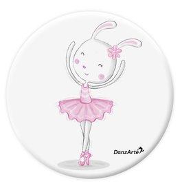 """DanzArte PM-GPA01-""""Dancing Bunny On Pointe"""" Pocket Mirror"""