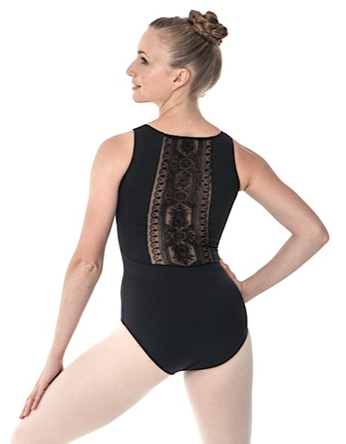 Intermezzo 31490-Tank Leotard With Mesh And Velvet/Mesh In Back