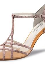 "Anna Kern 870-75-Ballroom Shoes 3.2"" Suede Sole Brocate-SPARKLE MULTI"