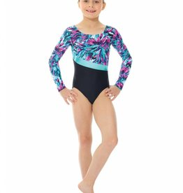 Mondor 27859-P7-Long Sleeve Gym Leotard-TURQUOISE